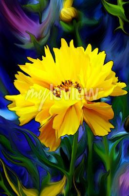 Fototapet Słoneczny Kwiat