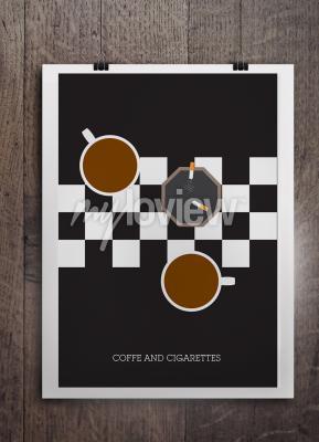 Fototapet Kawa i papierosy