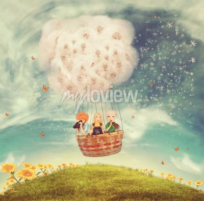 Fototapet magic ballong