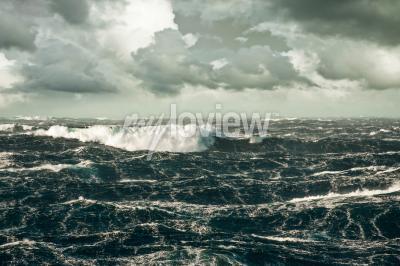 Canvastavlor Enorm våg omkull vid stormar Nordatlanten