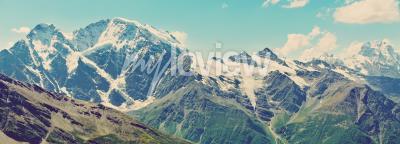 Fototapet Vinter berg, panorama