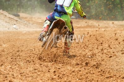 Fototapet Smuts skräp från en motocross race