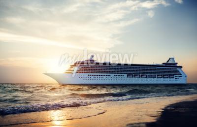 Fototapet Yacht Cruise Ship hav Tropiska Scenic Concept