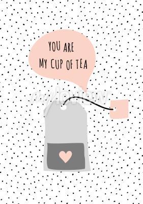 Canvastavlor Meddelande Du är min kopp te