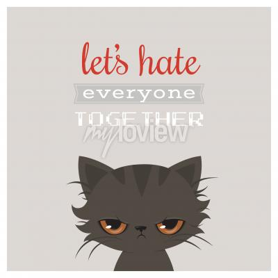 Affisch Arg katt tecknad