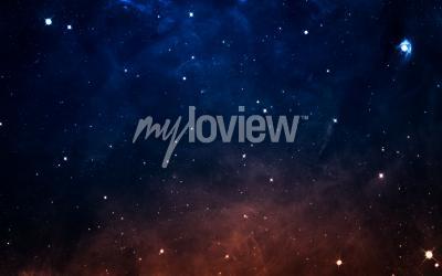 Fototapet Starfield i djupt utrymme många ljusår långt ifrån jorden