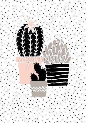 Fototapet Skandinavisk stil illustration