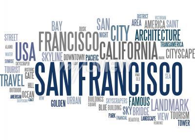 Fototapet San Francisco ordet moln