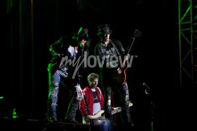 Fototapet Guns N 'Roses utförs på EXIT 2012 Music Festival