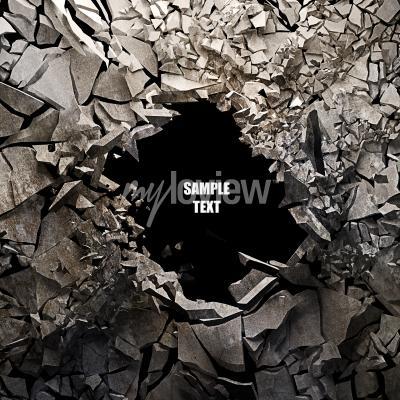 Fototapet Spridd jord abstrakt bakgrund Högupplöst 3d render