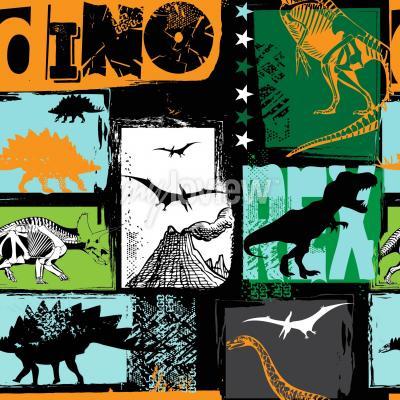 Fototapet Original design med t-rex dinosaur