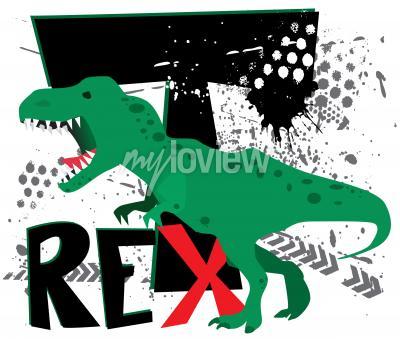 Fototapet Farlig t-rex