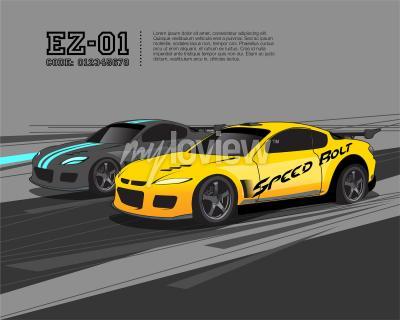 Fototapet Racing bil design mall