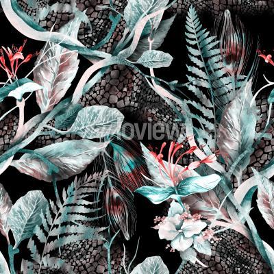 Canvastavlor Floral Seamless Pattern