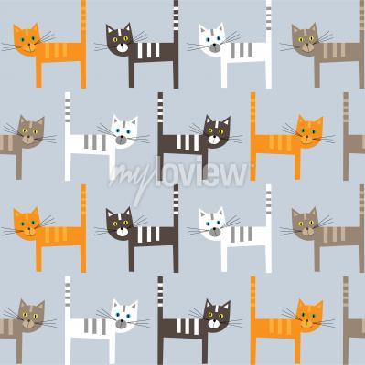 Fototapet Cats pattern