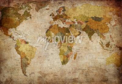 Fototapet Old map of the world