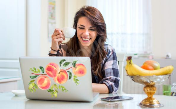 Vinilos de frutas para laptop
