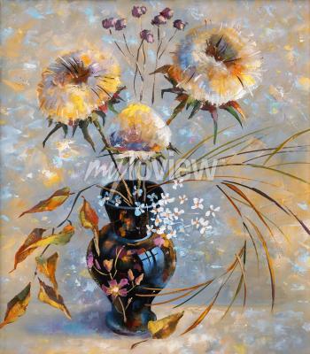 Canvastavlor Artwork. Dry flowers. Author: Nikolay Sivenkov