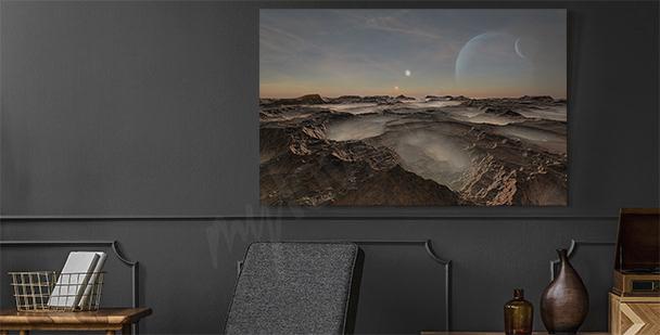3D canvastavla i Science fiction stil