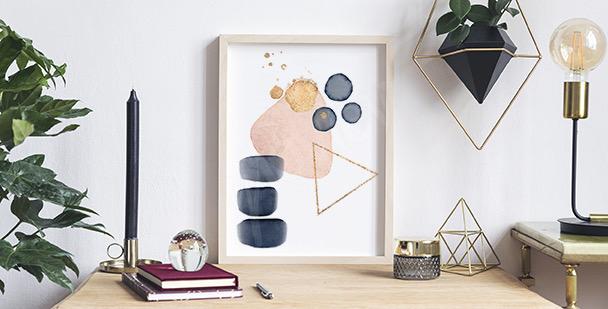 Abstrakt affisch med akvarell affisch
