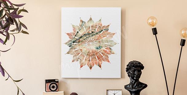 Abstrakt canvastavla med dekoration