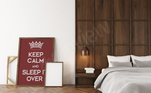 Affisch för sovrummet med text