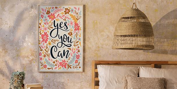 Affisch i floristisk stil