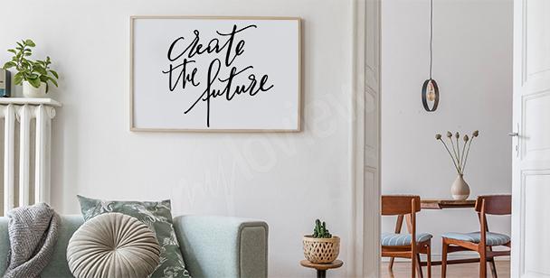 Affisch i minimalistisk stil