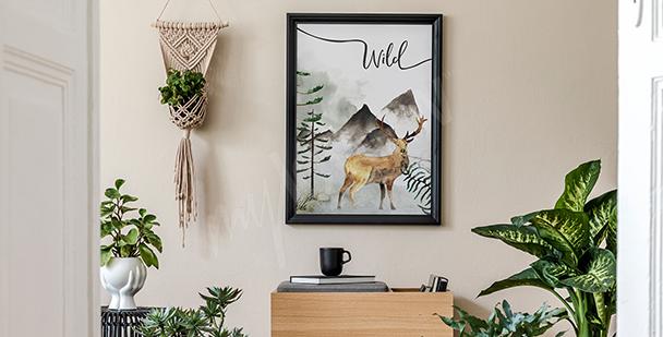 Affisch med bergsmotiv