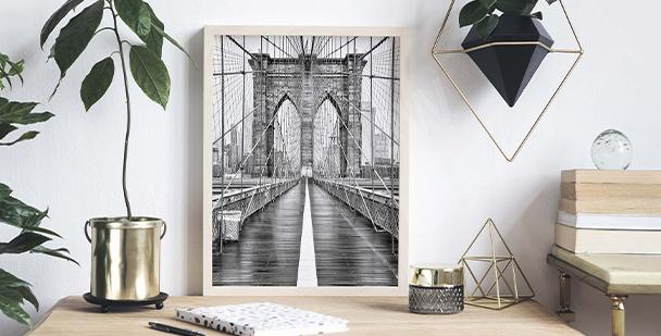 Affisch med Brooklyn Bridge
