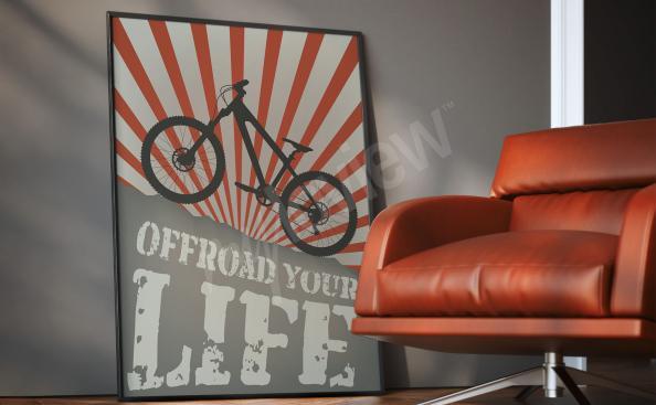 Affisch med en fin fin vintage cykel