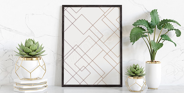 Affisch med ett geometriskt mönster
