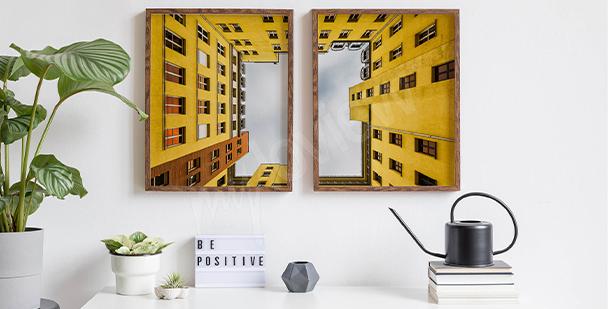 Affisch med gul lägenhet i Berlin