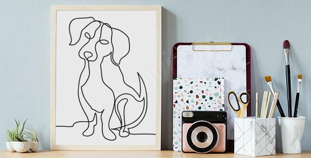 Affisch med hundskiss