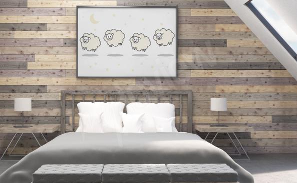 Affisch med lamm till sovrummet
