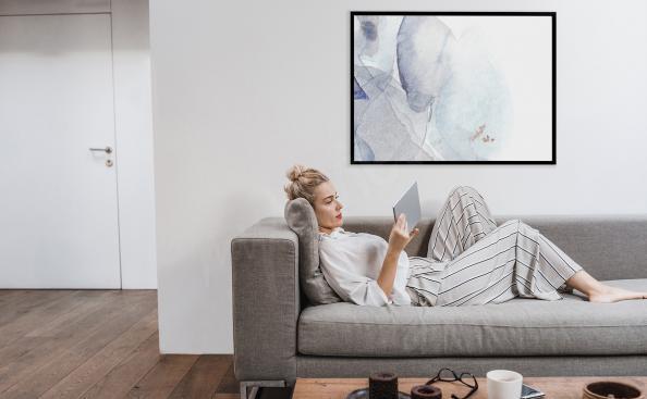 Affisch med minimalism till vardagsrummet