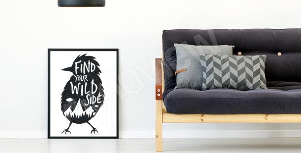 Affisch med motiverande ord