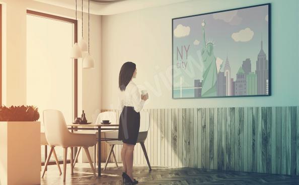 Affisch med New Yorks arkitektur