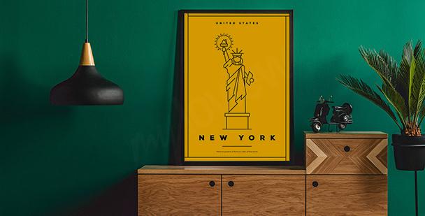 Affisch med New Yorks symbol