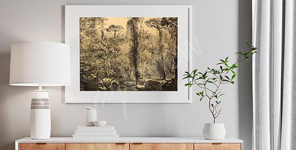 Affisch med skog från Sydamerika