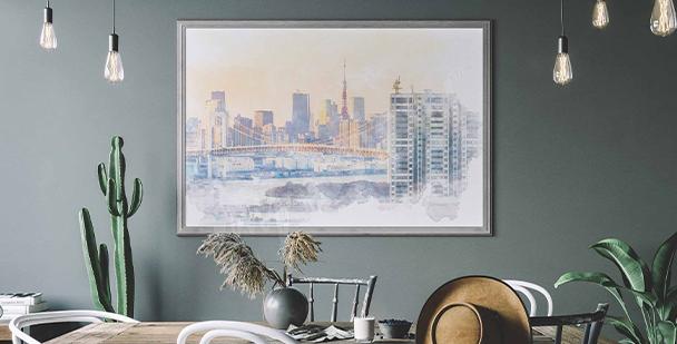 Affisch med skyline