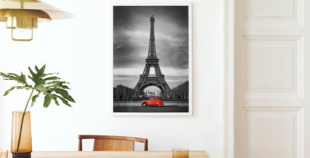 Affisch med utsikt över Eiffeltornet