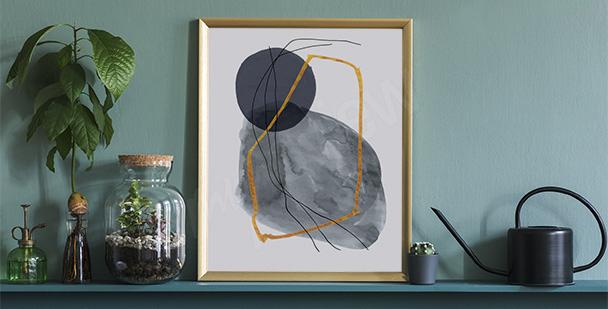 Affisch minimalism till hallen