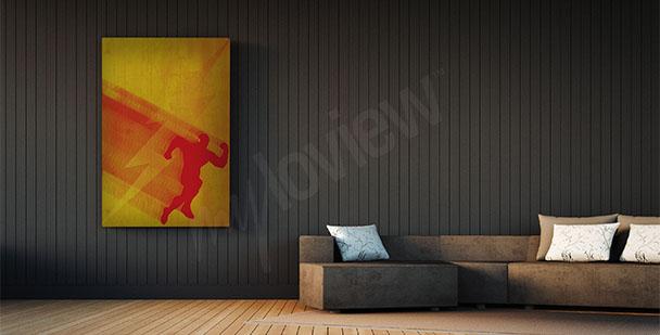 Affisch superhjälten Flash