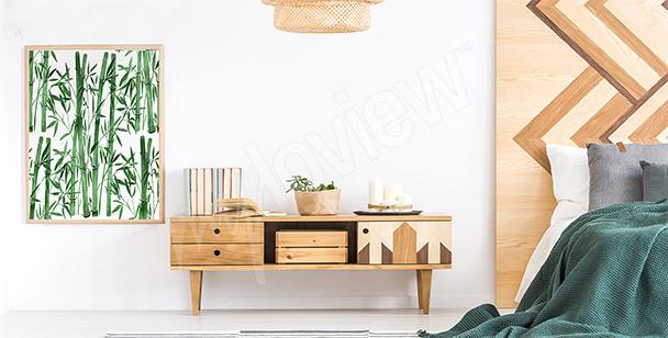 Affisch till sovrummet med bambu
