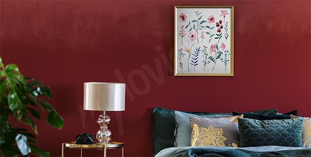 Affisch till sovrummet med herbarium