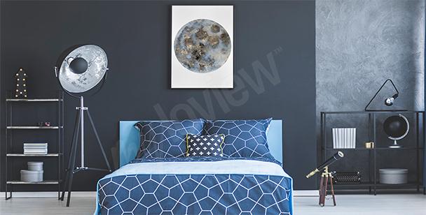 Affisch till sovrummet med måne