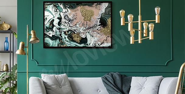 Affisch till vardagsrummet abstraktion