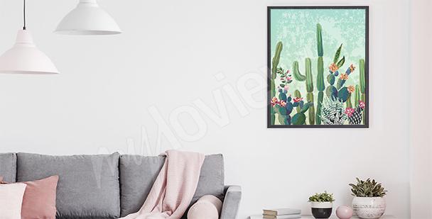 Affisch till vardagsrummet: kaktusar
