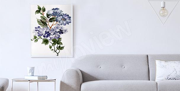 Affisch till vardagsrummet: växter